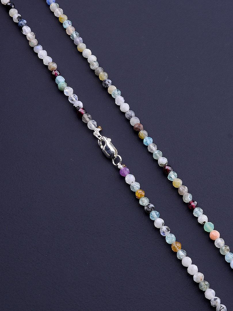 064340 Бусы 'SUNSTONES' Самоцветы Серебро(925) 40 см.