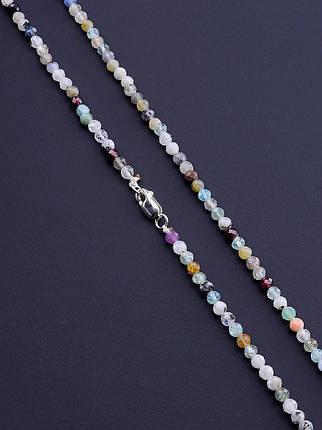 064340 Бусы 'SUNSTONES' Самоцветы Серебро(925) 40 см., фото 2