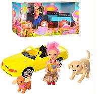 Кукла 68117-18 10см, машинка20см, 2вида(прицеп/животные), в кор-ке, 31-14,5-11см