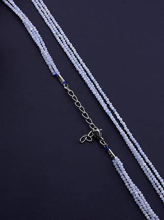 064965 Бусы 'SUNSTONES' Аквамарин 40 см., фото 2