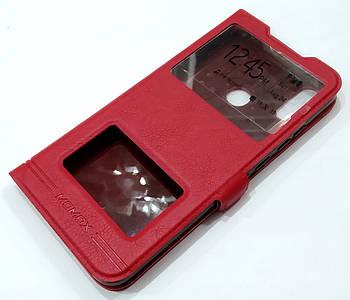 Чехол книжка с окошками momax для Xiaomi Redmi Note 7 / Note 7 Pro красный