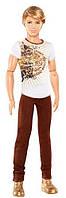 Кукла Барби Кен модник в коричневых джинсах Barbie Ken Fashionistas Doll with Brown Jeans