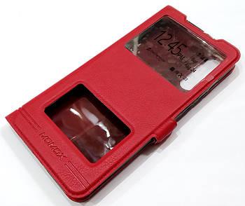 Чехол книжка с окошками momax для Xiaomi Mi 9 красный