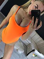 Яркий женский купальник сплошной из бифлекса 7218256