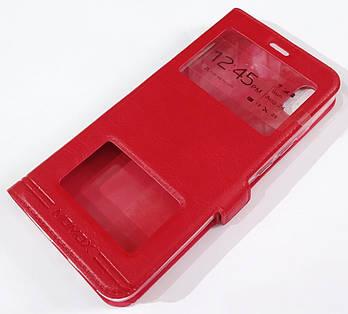 Чехол книжка с окошками momax для Xiaomi Redmi 7A Красный