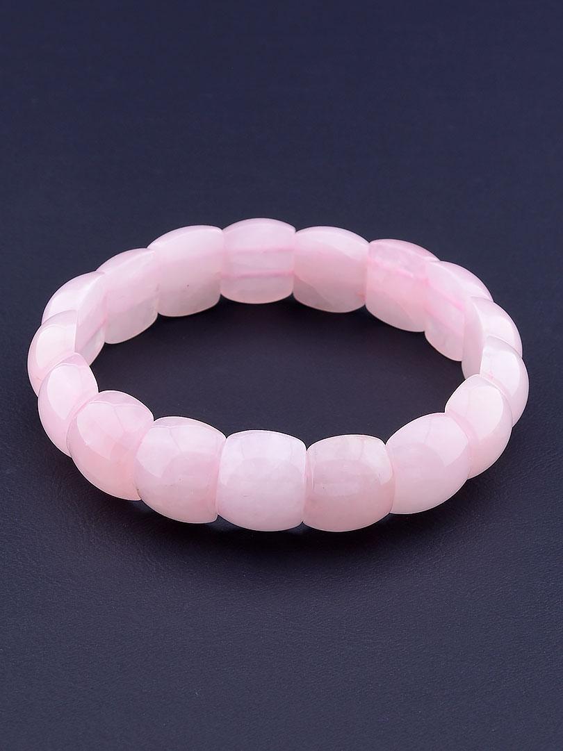 074015 Браслет Розовый кварц 20 см.