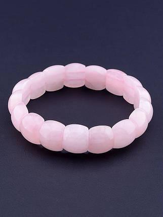 074015 Браслет Розовый кварц 20 см., фото 2