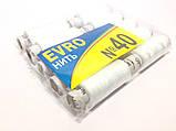 Нитки швейные EVRO № 40 белые, полиэстер, ( 10 катушек ), фото 2