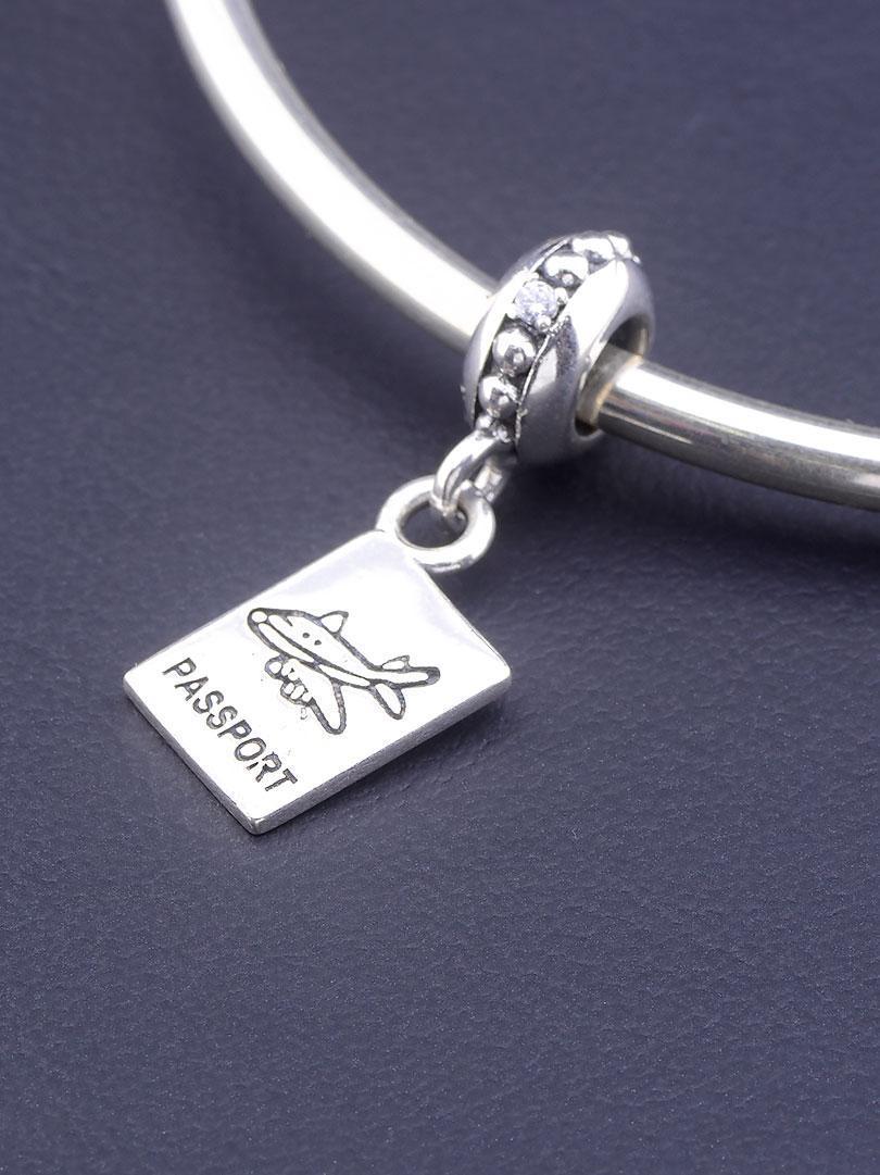 077290 Шарм 'Pandora style' Фианит Серебро(925)