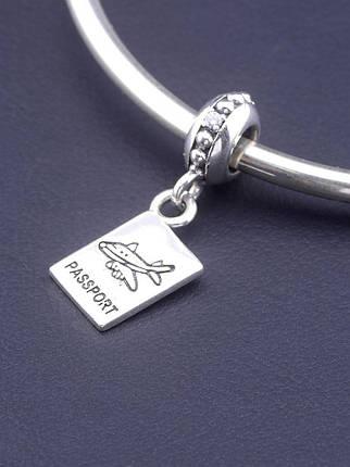 077290 Шарм 'Pandora style' Фианит Серебро(925), фото 2