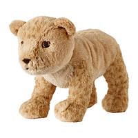 Мягкая игрушка IKEA DJUNGELSKOG львенок Светло-коричневый (804.028.14)
