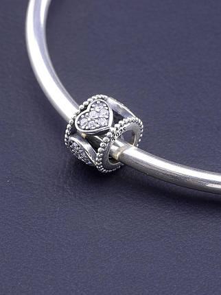 077249 Шарм 'Pandora style' Фианит Серебро(925), фото 2