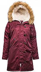 Куртка Alpha Industries Elyse S Maroon, КОД: 1313230