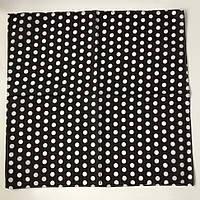 Бандана 55х55 в горошек Черно-белая K603, КОД: 131942