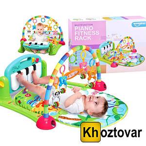 Дитячий розвиваючий килимок Piano Fitness Rackhe | Зелений
