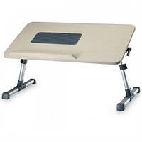 Стол для ноутбука (раскладной) XGeer Limitless Comfort с охлаждением и регулировкой угла наклона рабочей поверхности, бежевый Оригинал
