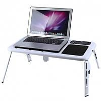 Подставка-столик для ноутбука с двумя USB вентиляторами, E-Table Оригинал