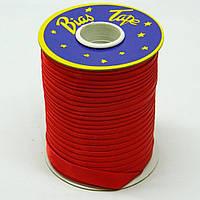 Косая бейка Super 3133 атласная 1.5 см х 100 м Красная Bios-3133, КОД: 1314933