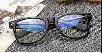 Имиджевые очки с прозрачной линзой анти блик Чёрный