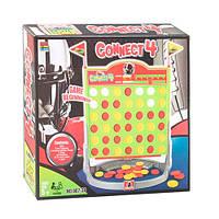 Настольная игра 007-36 Собери 4 подряд, решетка, фишки в кор-ке, 31,5-28-6см