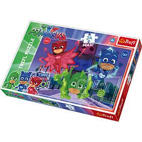 Пазли 14262  Trefl E1 PJ Masks, Hidden heroes, максі, 24 дет., кор., 39,5-26,5-4,5 см.