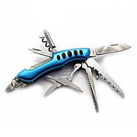 Складной карманный нож STINGER 11 в 1 Синий DN18907, КОД: 285112