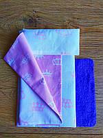 Текстиль для кукол в кукольный домик Барби в спальную - 4 предмета: матрас, покрывало, подушка, коврик (1104)