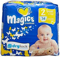Подгузник Magics Premium Мини 2 (34 шт) 3-6кг