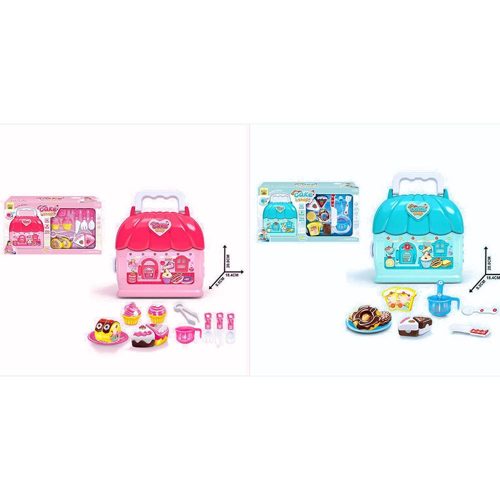 Продукты 36778-158-130A  сладости, посуда, домик17-21-9см, муз,свет,бат-таб, 2в,кор,47-25-10см
