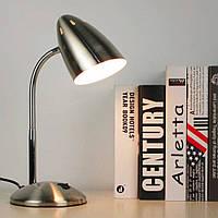 Настольная лампа E27 LMN099 серебро с выключателем