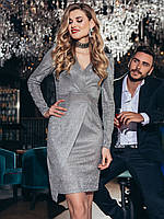 Блестящее платье женское приталенного силуэта