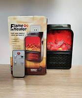 Портативний обігрівач з LCD дисплеєм, пультом Flame Heater 500W тепловентилятор з імітацією каміна