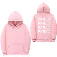 Худи Kanye West - I Feel Like Pablo Paris розовое с логотипом, унисекс (мужское, женское, детское)