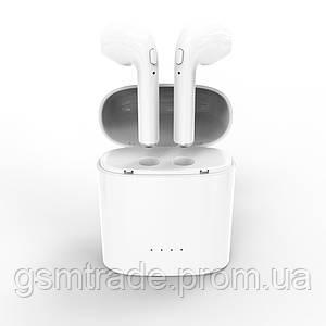 Беспроводные Bluetooth наушники HBQ I7S TWS Stereo Белые (R0035)