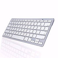 Bluetooth беспроводная клавиатура для телевизора планшета и смартфона ноутбука UKC X5 RUS с русскими буквами Белая Оригинал