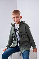 Детский свитшот Stimma Эдриан 4526 на мальчика 8-12 лет 146 Оливка
