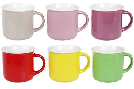 Кружка фарфоровая 350мл Яркие цвета, 6 видов, в упаковке 6шт. (432-012), фото 2