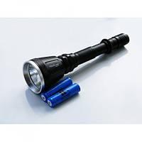Фонарь Bailong аккумуляторный охотничий подствольный для охоты тактический с выносной кнопкой под ружье 2 аккумулятора 18650 Чёрный (Police-Q2888-T6)