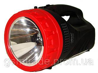 Фонарь-прожектор аккумуляторный/лампа Yajia YJ-2827 Красный с черным (R0068)