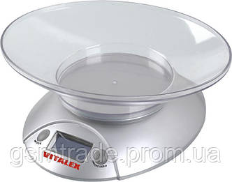 Весы кухонные Vitalex VT-300 электронные Серебристый (R0069)