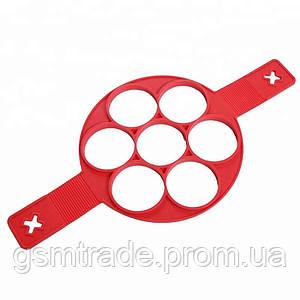 Силиконовая форма FLIPPIN FANTASTIC для приготовления оладий/яичницы/блинов Красный (R0075)