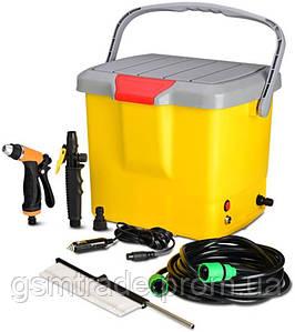 Портативная автомойка от прикуривателя High Pressure Portable Car Washer Желтый (R0096)