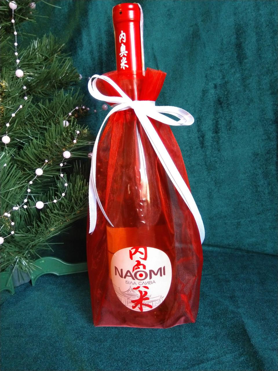 Новогодняя упаковка для бутылки шампанского (мешочек для бутылки, упаковка для бутилыки, подарочная упаковка)