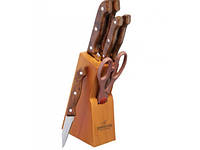 Набор Ножей 7 Предметов На Подставке Bohmann BH-5102 MR