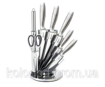 Набір Ножів З Нержавіючої Сталі Rainstahl RS/KN-8008-08 На Підставці 8 Предметів В Наборі