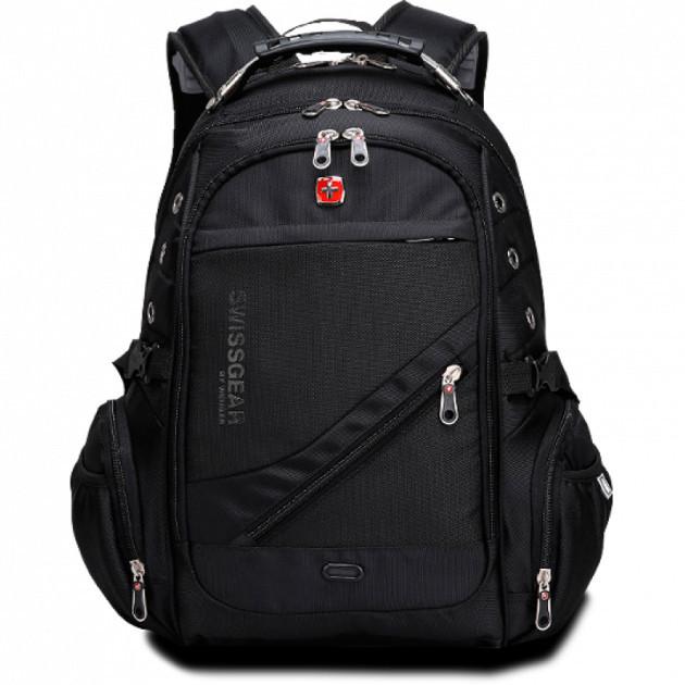 Рюкзак с дождевиком SwissGear для ноутбука с защитой от воды + AUX и USB выход Оригинал
