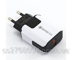 "МЗП USB (МР3) ""Mobiland"" fast charge (12V 1.5A/ 9V 2A/ 5V 3.1A) (white)"