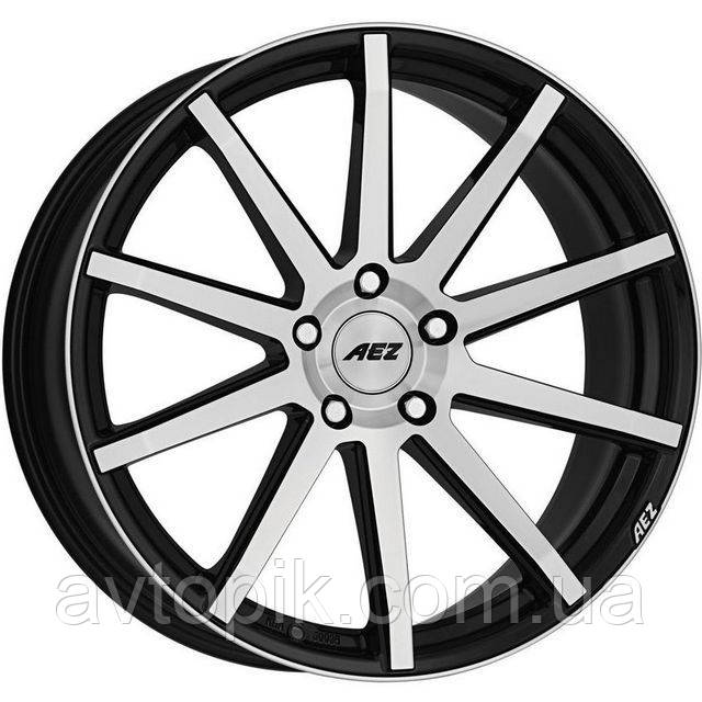 Литые диски Aez Straight R17 W7.5 PCD5x112 ET48 DIA70.1 (black polished)