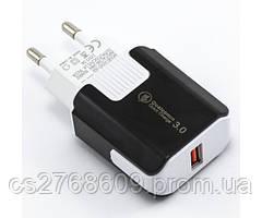 """МЗП USB (МР3) """"Mobiland"""" fast charge (12V 1.5A/ 9V 2A/ 5V 3.1A) (black)"""