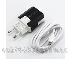 """Мережевий зарядний пристрій+USB cable """"Mobiland"""" fast charge (micro)"""